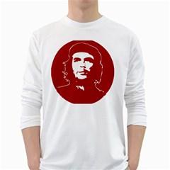 Chce Guevara, Che Chick Mens' Long Sleeve T-shirt (White)