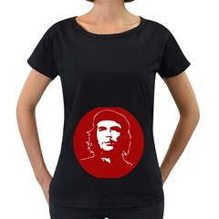 Chce Guevara, Che Chick Womens' Maternity T-shirt (Black)