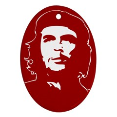 Chce Guevara, Che Chick Oval Ornament (two Sides)