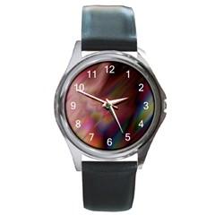 Prism Round Metal Watch (Silver Rim)