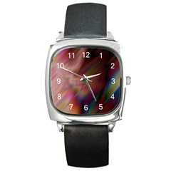 Prism Square Leather Watch