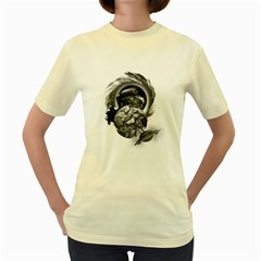 Thy Planet is Mine  Womens  T-shirt (Yellow)