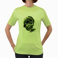 Thy Planet Is Mine Womens  T Shirt (green)