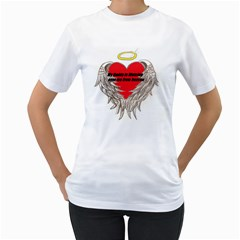 daddy watching over Womens  T-shirt (White)