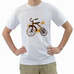 Tree Cycle Mens  T-shirt (White)