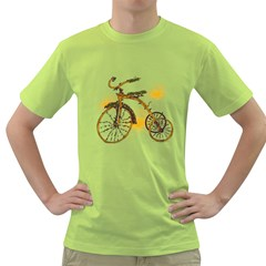 Tree Cycle Mens  T Shirt (green)