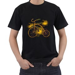Tree Cycle Mens' Two Sided T-shirt (Black)