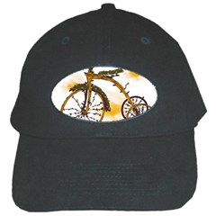 Tree Cycle Black Baseball Cap
