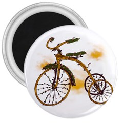 Tree Cycle 3  Button Magnet