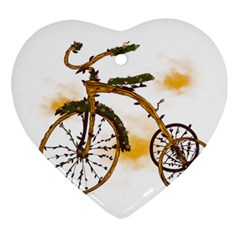 Tree Cycle Heart Ornament