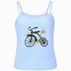 Tree Cycle Baby Blue Spaghetti Tank