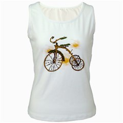 Tree Cycle Womens  Tank Top (white)