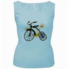 Tree Cycle Womens  Tank Top (Baby Blue)