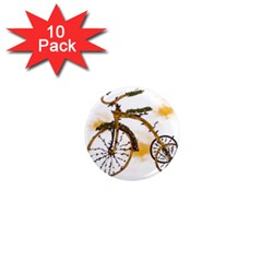 Tree Cycle 1  Mini Button Magnet (10 pack)