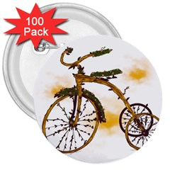 Tree Cycle 3  Button (100 Pack)