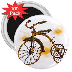 Tree Cycle 3  Button Magnet (100 Pack)