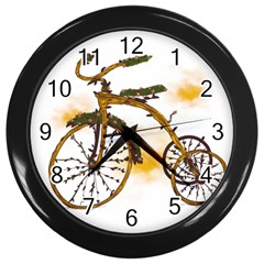 Tree Cycle Wall Clock (Black)
