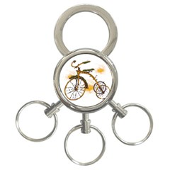 Tree Cycle 3 Ring Key Chain