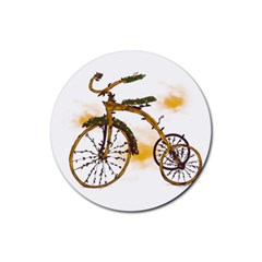 Tree Cycle Drink Coaster (round)