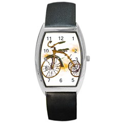 Tree Cycle Tonneau Leather Watch