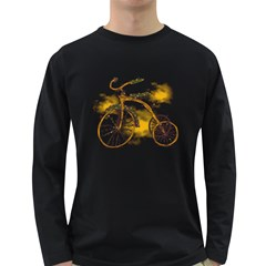 Tree Cycle Mens' Long Sleeve T Shirt (dark Colored)