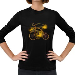 Tree Cycle Womens' Long Sleeve T-shirt (Dark Colored)