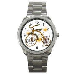 Tree Cycle Sport Metal Watch