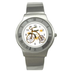 Tree Cycle Stainless Steel Watch (unisex)