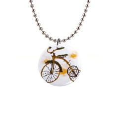 Tree Cycle Button Necklace