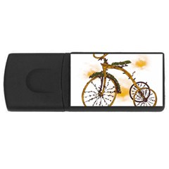Tree Cycle 4GB USB Flash Drive (Rectangle)