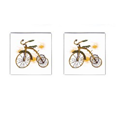 Tree Cycle Cufflinks (square)
