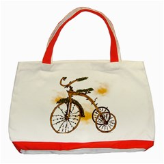 Tree Cycle Classic Tote Bag (Red)