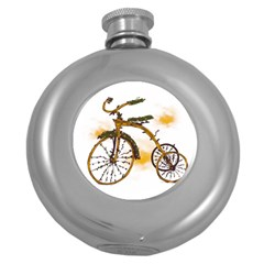 Tree Cycle Hip Flask (Round)