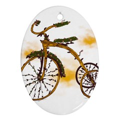 Tree Cycle Oval Ornament (Two Sides)