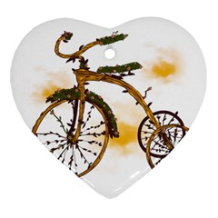 Tree Cycle Heart Ornament (Two Sides)
