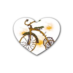 Tree Cycle Drink Coasters 4 Pack (Heart)