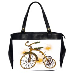 Tree Cycle Oversize Office Handbag (two Sides)