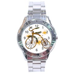 Tree Cycle Stainless Steel Watch (Men s)