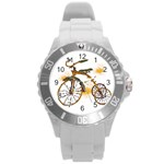 Tree Cycle Plastic Sport Watch (Large) Front