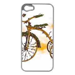 Tree Cycle Apple iPhone 5 Case (Silver)