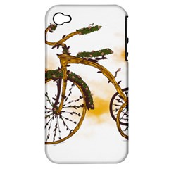 Tree Cycle Apple iPhone 4/4S Hardshell Case (PC+Silicone)