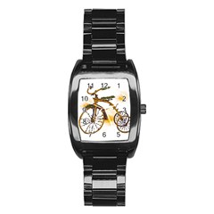Tree Cycle Men s Stainless Steel Barrel Analog Watch