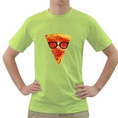 Geeks Pizza Mens  T-shirt (Green)