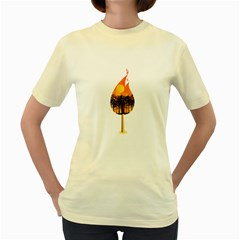 Deforestation  Womens  T-shirt (Yellow)