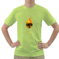 Deforestation Mens  T-shirt (Green)