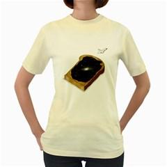 Space Jam  Womens  T-shirt (Yellow)