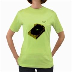 Space Jam Womens  T Shirt (green)