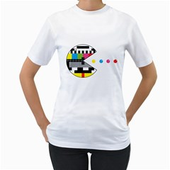 Color Eater Womens  T Shirt (white)