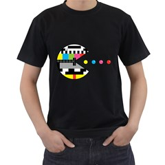 Color Eater Mens' Two Sided T-shirt (Black)