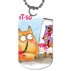 Picatso by PookieCat Dog Tag (Two-sided)